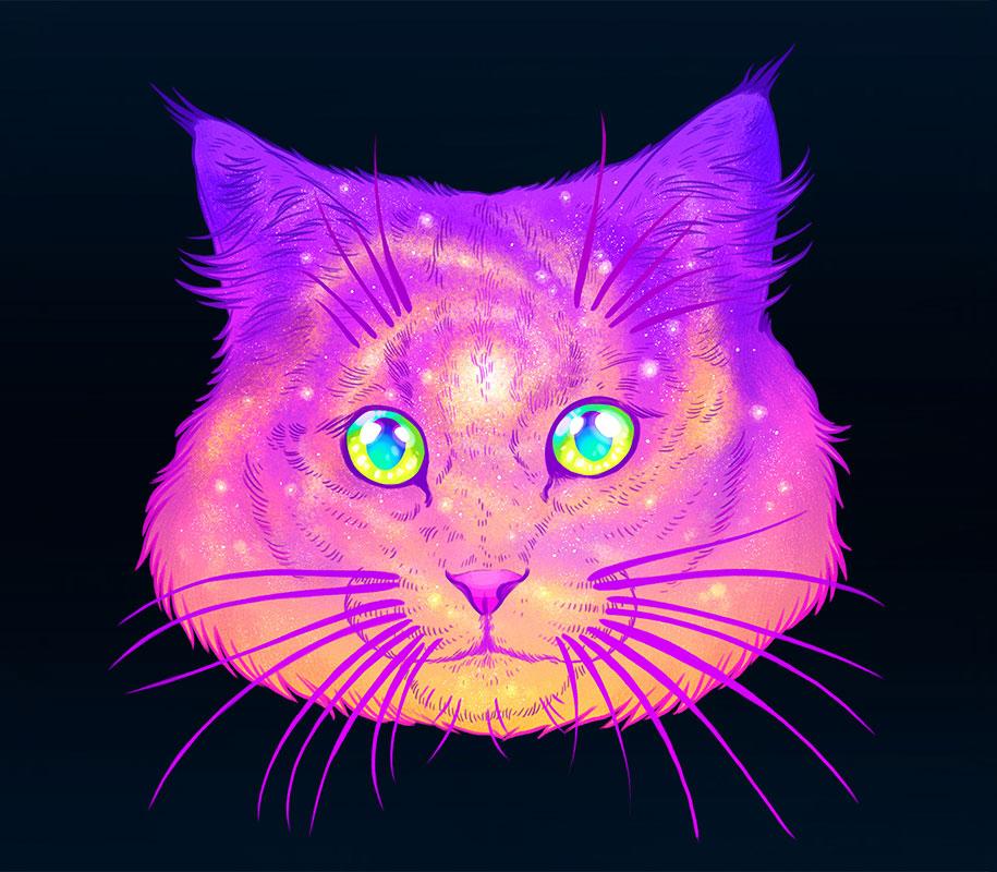 gatti-galassie-spazio-colorati-galactic-cats-jen-bartel-1