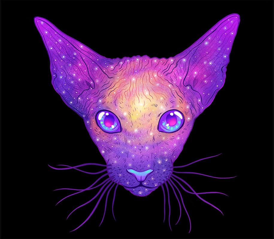 gatti-galassie-spazio-colorati-galactic-cats-jen-bartel-2