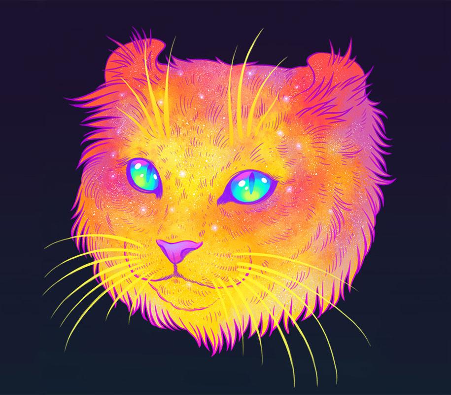 gatti-galassie-spazio-colorati-galactic-cats-jen-bartel-3