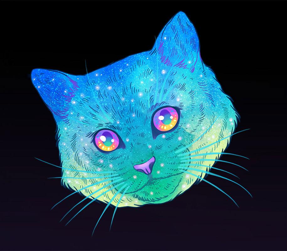 gatti-galassie-spazio-colorati-galactic-cats-jen-bartel-4