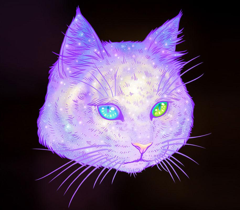 gatti-galassie-spazio-colorati-galactic-cats-jen-bartel-5