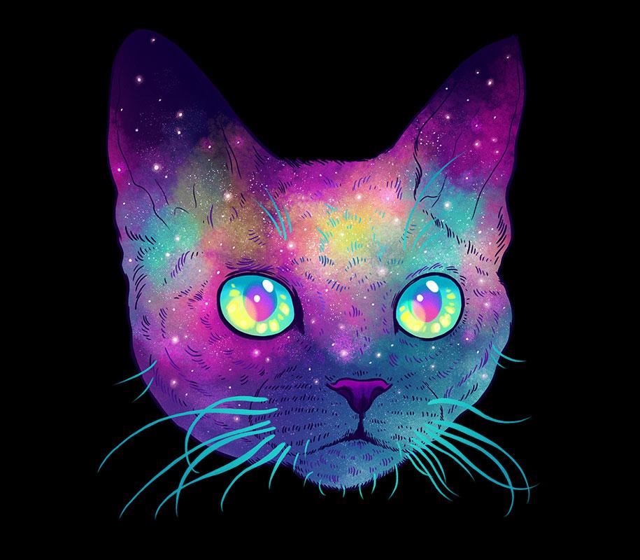 gatti-galassie-spazio-colorati-galactic-cats-jen-bartel-6