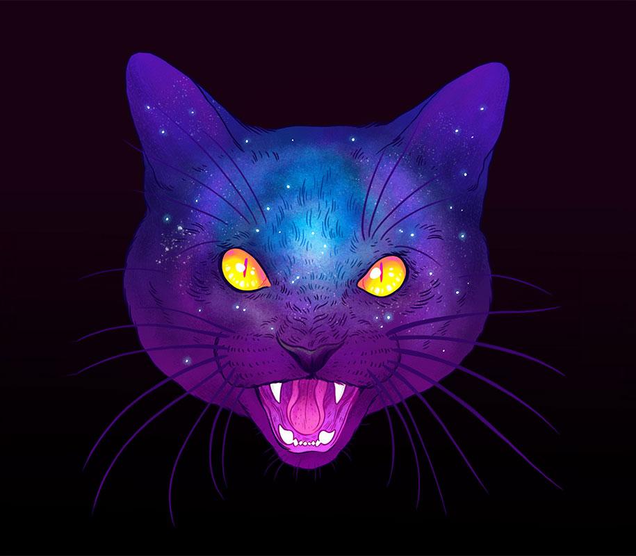 gatti-galassie-spazio-colorati-galactic-cats-jen-bartel-8
