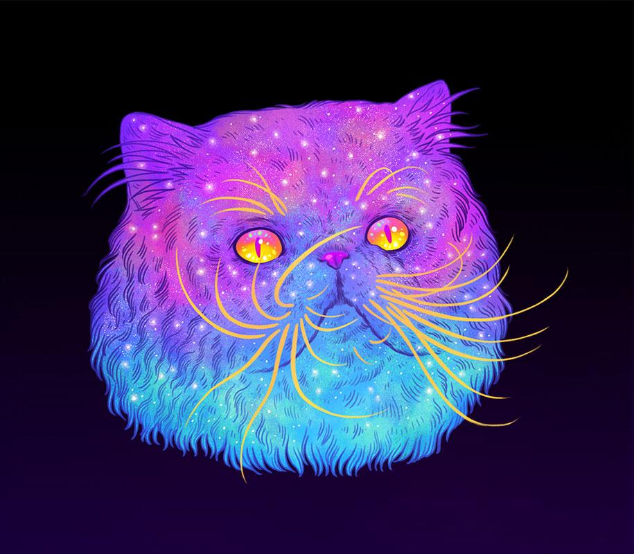gatti-galassie-spazio-colorati-galactic-cats-jen-bartel-9