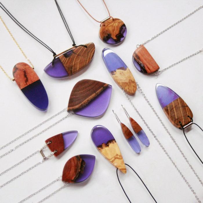 Famoso Frammenti di legno fusi con resina diventano magnifici ciondoli e  WN55