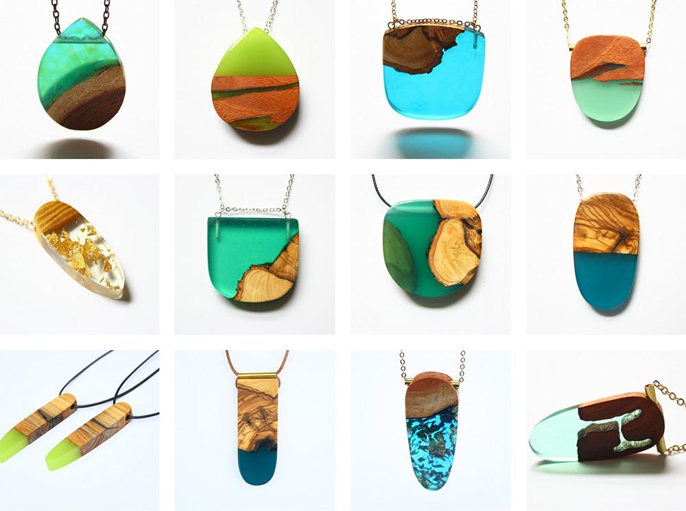 spesso gioielli-artigianali-legno-resina-ciondoli-anelli-orecchini-boldb  OT96