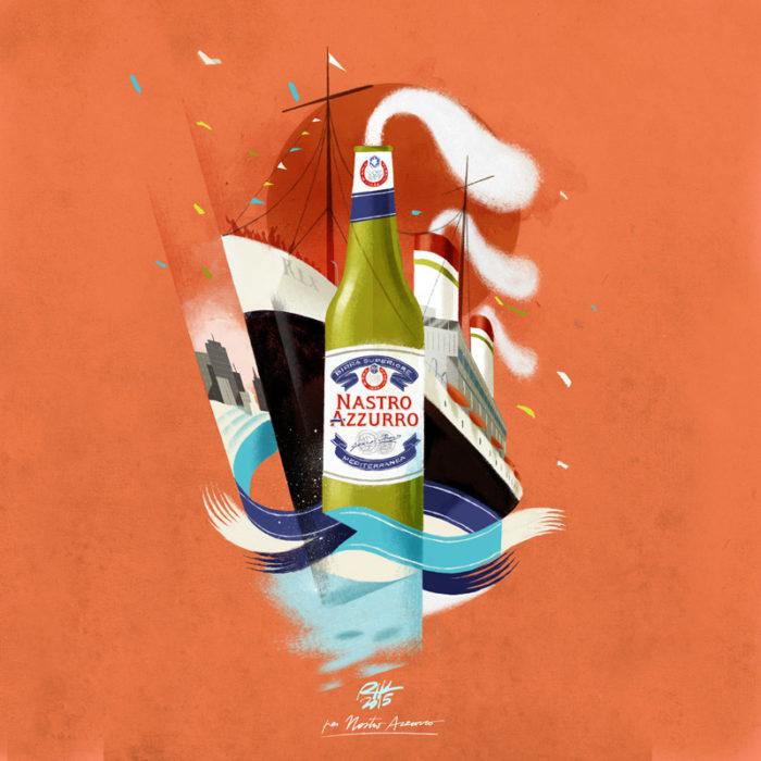 illustrazioni-pubblicità-peroni-nastro-azzurro-riccardo-guasco-2
