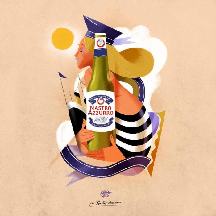 illustrazioni-pubblicità-peroni-nastro-azzurro-riccardo-guasco-3