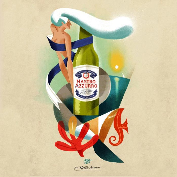 illustrazioni-pubblicità-peroni-nastro-azzurro-riccardo-guasco-5