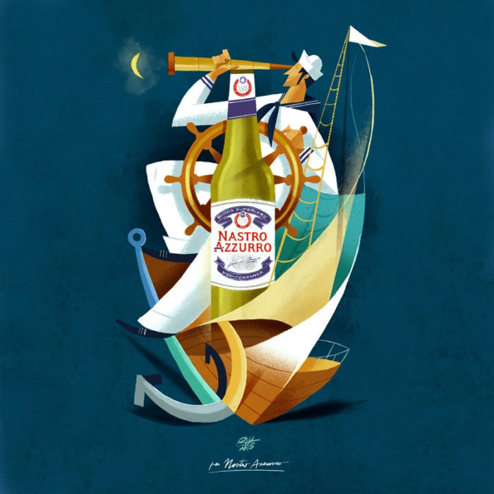 illustrazioni-pubblicità-peroni-nastro-azzurro-riccardo-guasco-6
