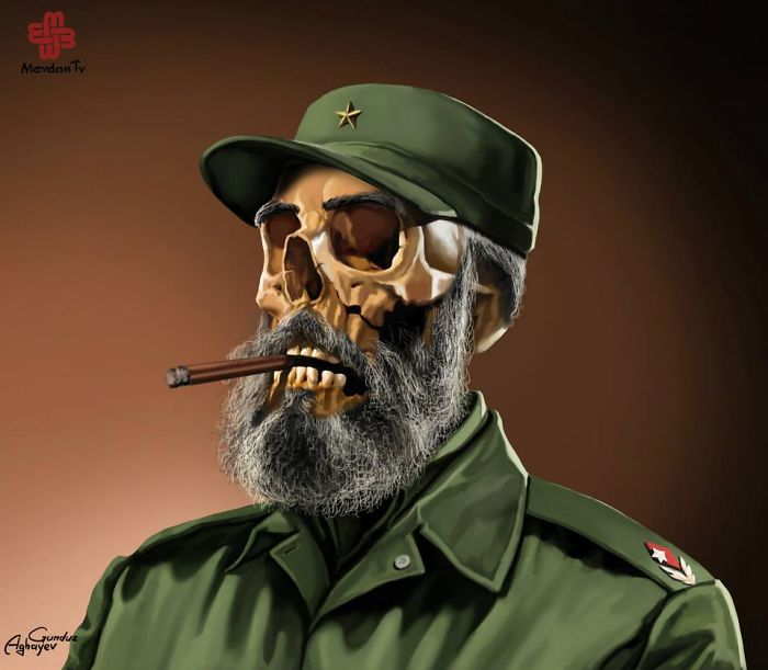 illustrazioni-satira-leader-capi-di-stato-mondo-gunduz-agayev-castro
