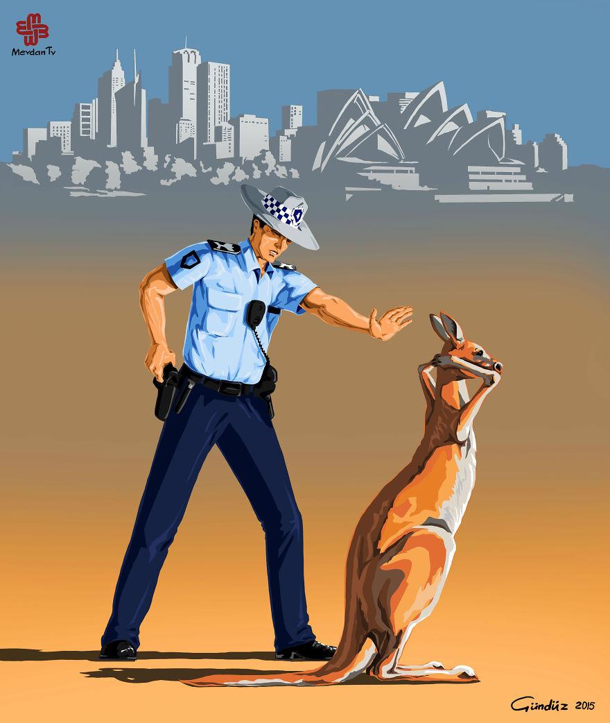 illustrazioni-satiriche-vignette-gunduz-agayev-avstraiya-polizia