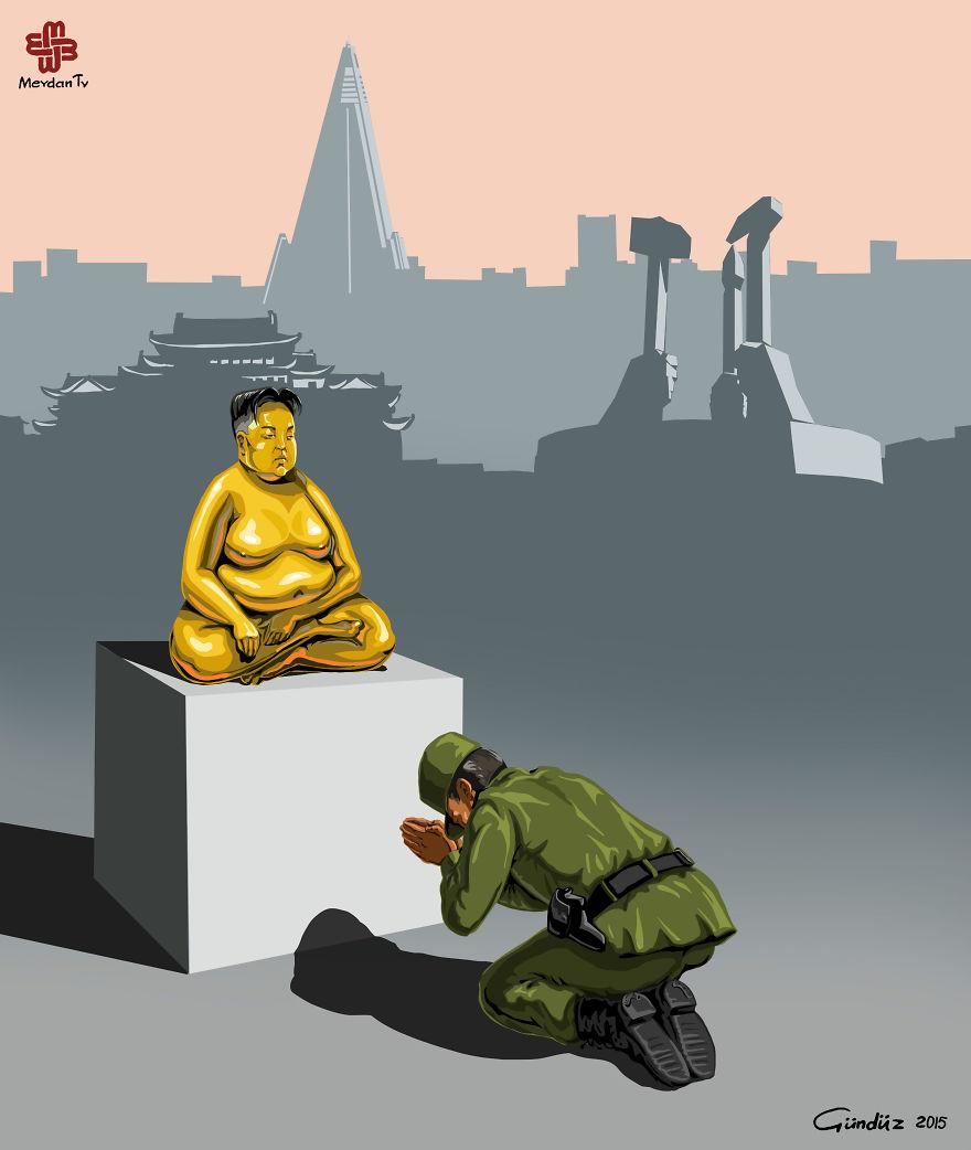 illustrazioni-satiriche-vignette-gunduz-agayev-corea-polizia