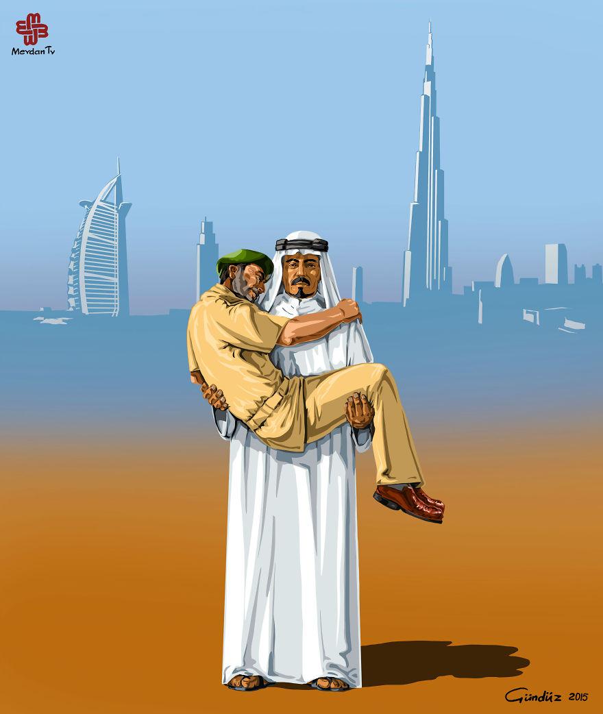 illustrazioni-satiriche-vignette-gunduz-agayev-polizia-araba