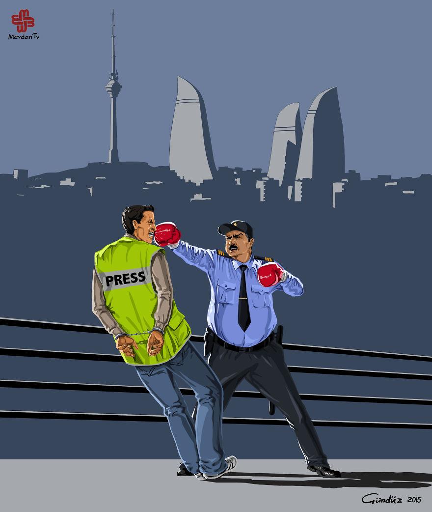 illustrazioni-satiriche-vignette-gunduz-agayev-polizia-azerbaijan