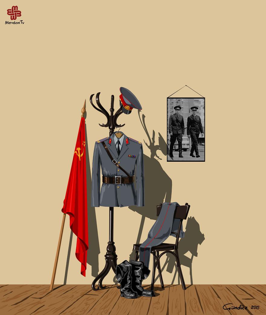illustrazioni-satiriche-vignette-gunduz-agayev-sssr-polizia