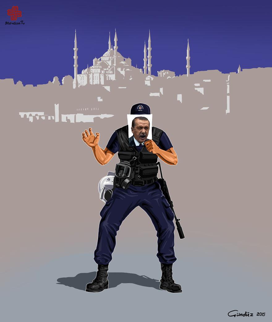 illustrazioni-satiriche-vignette-gunduz-agayev-turchia-polizia