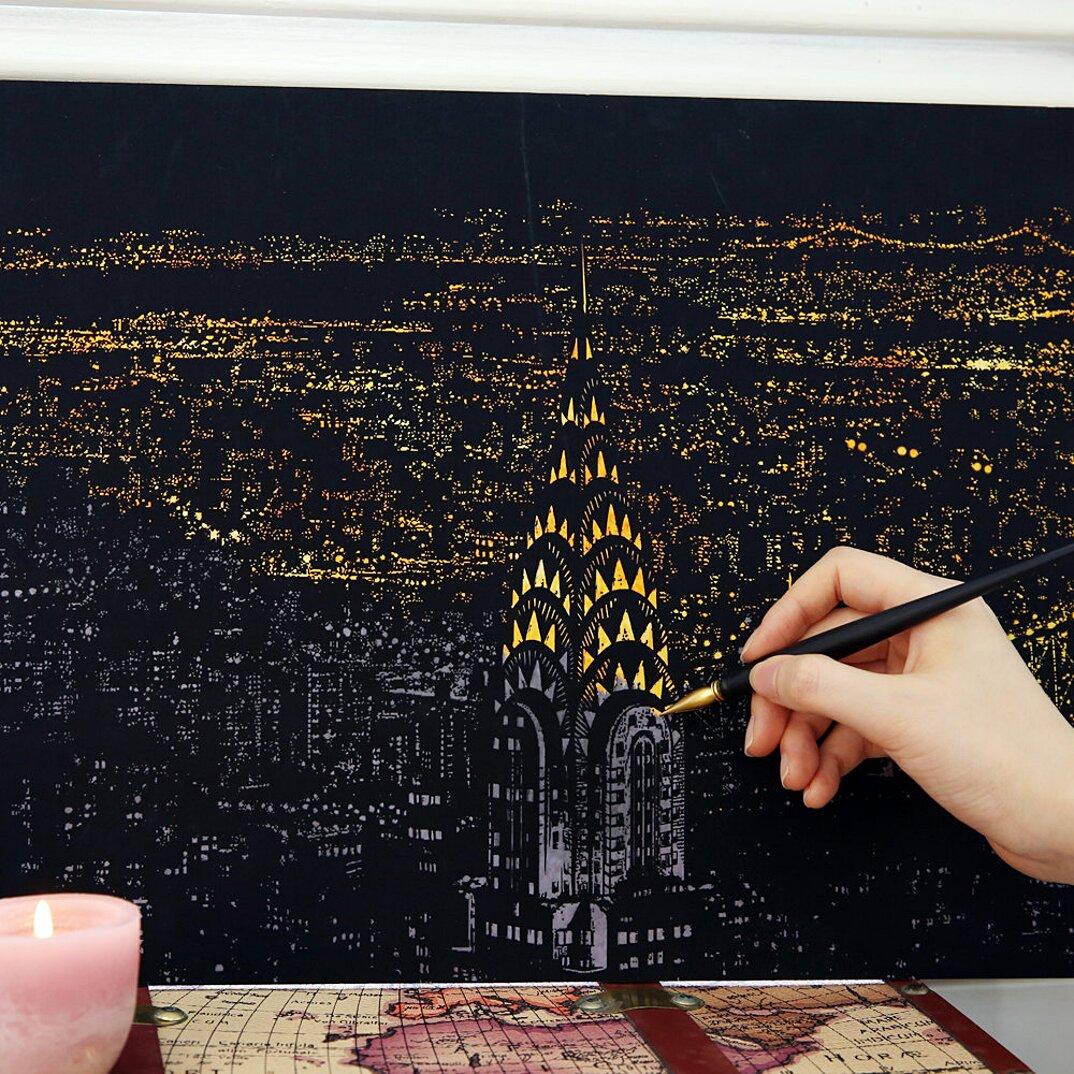 immagini-da-grattare-citta-illuminate-notte-famose-adulti-lago-design-new-york-k
