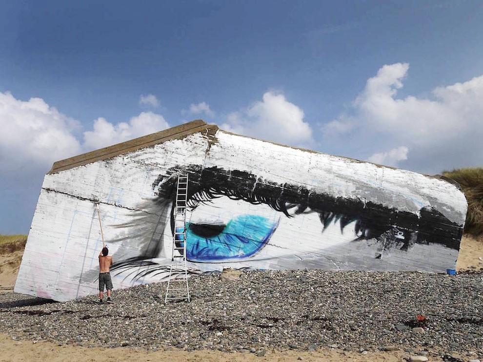 occhio-street-art-spiaggia-francia-cece-aerosoleil-4