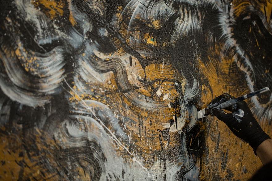 pittura-inchiostro-tecniche-miste-tigre-enorme-ruggente-hua-tunan-4