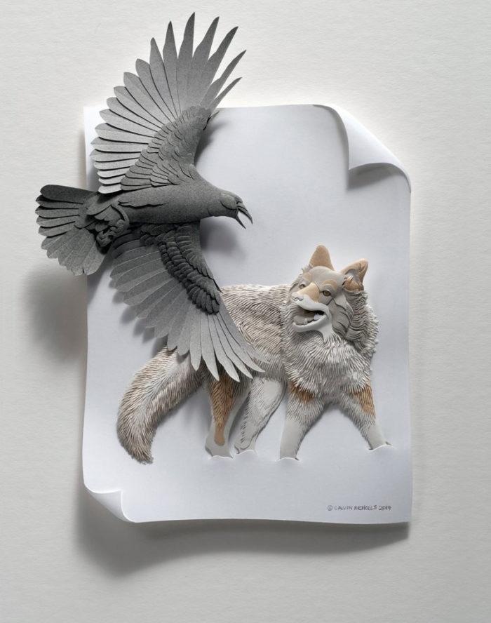 sculture-carta-uccelli-animali-calvin-nicholls-10