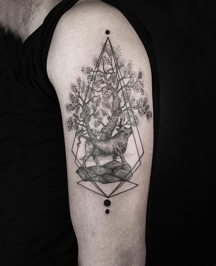 tatuaggi-animali-geometrici-eleganti-lineari-okan-uckun-09