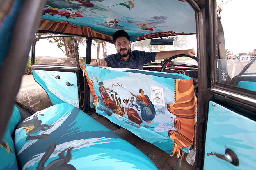 taxi-decorato-come-cappella-sistina-mumbai-india-kunel-gaur-1