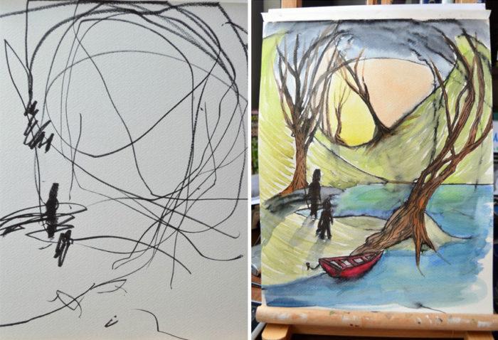 artista-trasforma-disegni-bambini-in-dipinti-1