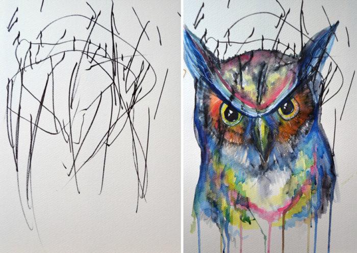artista-trasforma-disegni-bambini-in-dipinti-4