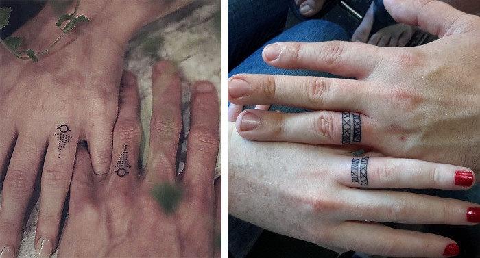 22 coppie anticonformiste che hanno scelto di sposarsi con dei tatuaggi anziché fedi nuziali
