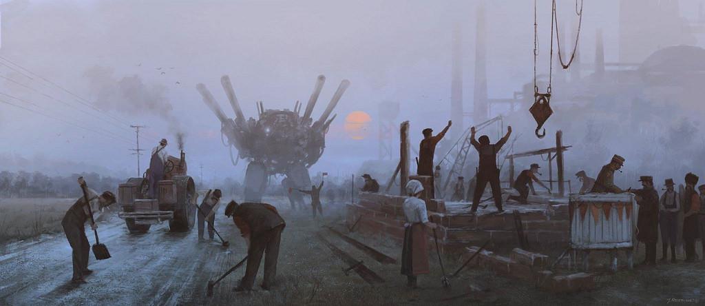 dipinti-fantascienza-1920-contadini-robot-jakub-rozalski-2