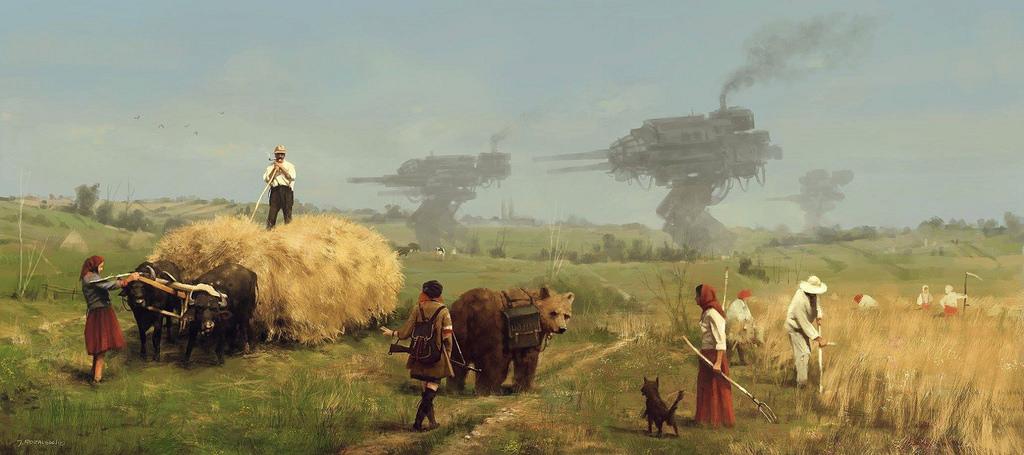 dipinti-fantascienza-1920-contadini-robot-jakub-rozalski-7