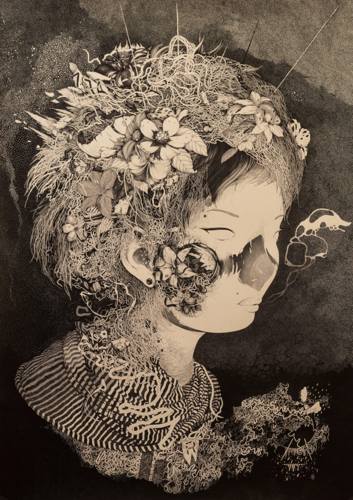 disegni-inchiostro-donne-puntinismo-benze-2