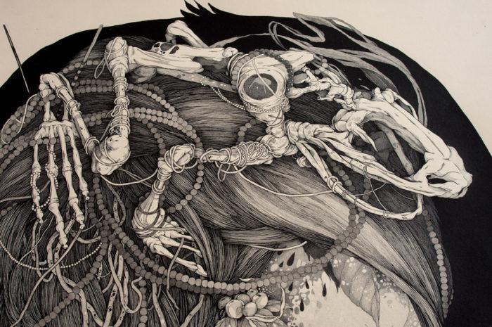 disegni-inchiostro-donne-puntinismo-benze-5
