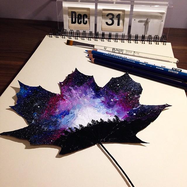 foglie-secche-dipinte-arte-joanna-wirazka-02