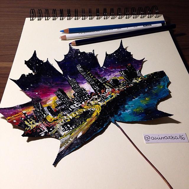 foglie-secche-dipinte-arte-joanna-wirazka-04