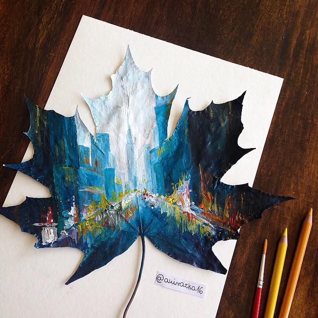 foglie-secche-dipinte-arte-joanna-wirazka-05
