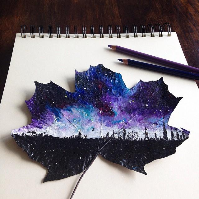 foglie-secche-dipinte-arte-joanna-wirazka-07