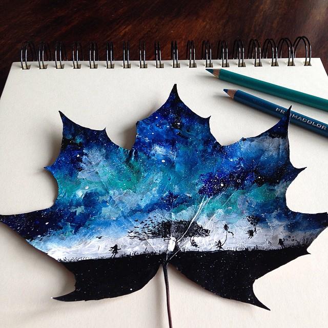 foglie-secche-dipinte-arte-joanna-wirazka-09