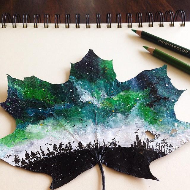 foglie-secche-dipinte-arte-joanna-wirazka-10