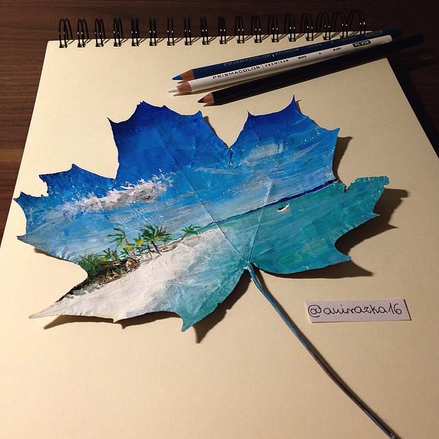 foglie-secche-dipinte-arte-joanna-wirazka-11