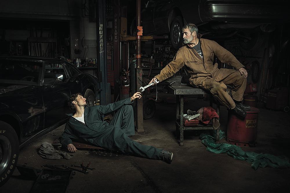 foto-spiritose-meccanici-dipinti-rinascimento-freddy-fabris-1