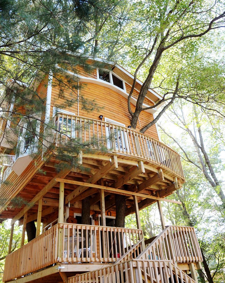 nonno-costruisce-casa-albero-3-piani-jay-hewitt-massachusetts-3
