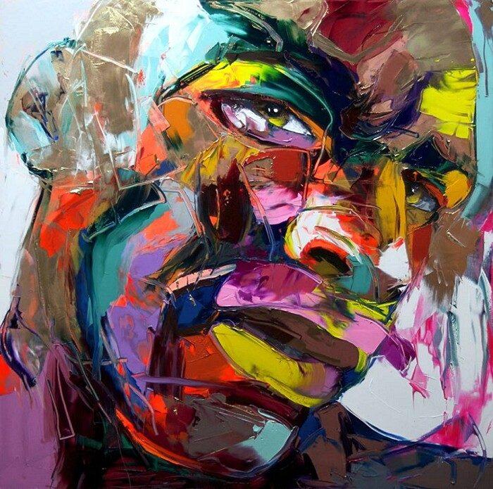 ritratti-colorati-dipinti-spatola-tela-francoise-nielly-02