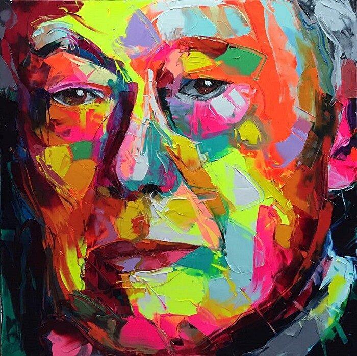 ritratti-colorati-dipinti-spatola-tela-francoise-nielly-11