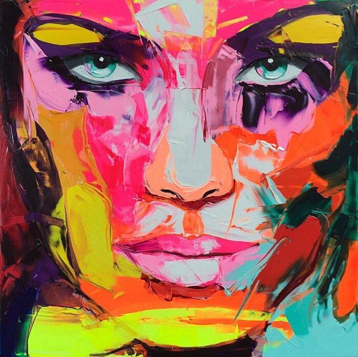 ritratti-colorati-dipinti-spatola-tela-francoise-nielly-13