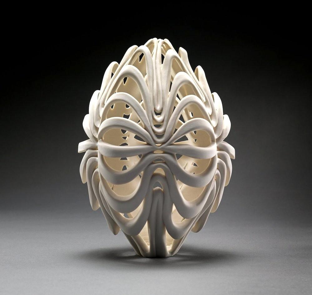 sculture in porcellana ispirate alla natura di jennifer