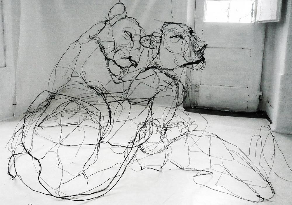 sculture-filo-metallico-animali-david-oliveira-1