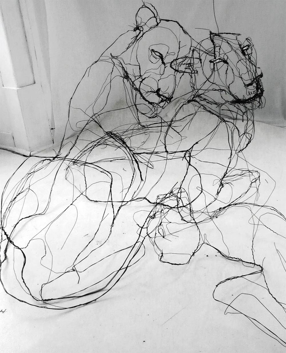 sculture-filo-metallico-animali-david-oliveira-2