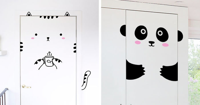 Stickers Per Ante Armadio.Graziosi Door Stickers Che Trasformeranno Le Vostre Porte E Armadi